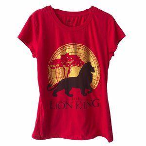 Disney Lion King Red Graphic Tee large